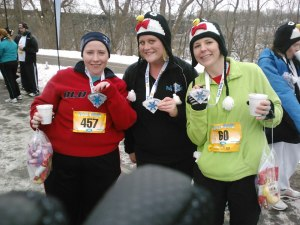 Jana, Emmy, and I after the Polar Dash.
